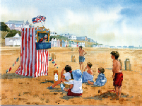 Punch & Judy Fine Art Greeting Card